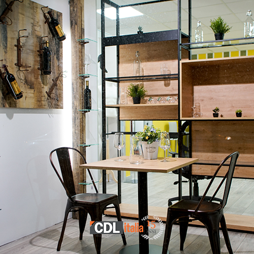 arredo bar bistrot industrial chic